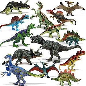 Kit 18 Dinossauros Educativos Realista Joyin de Plástico
