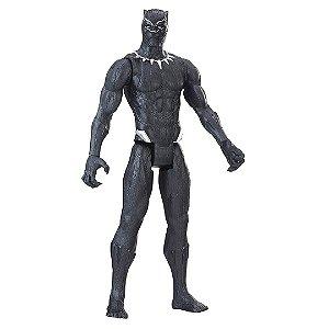 Boneco Pantera Negra Marvel Série Titan Heróis Avengers com 30cm