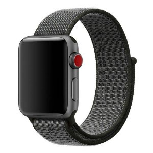 Pulseira Nylon Sport Loop Para Apple Watch 38mm - Cinza