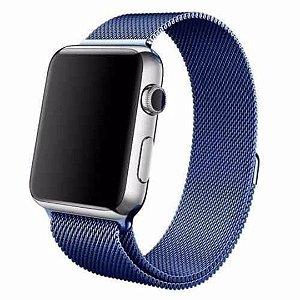 Pulseira Milanese Magnética Para Apple Watch 42mm - Azul