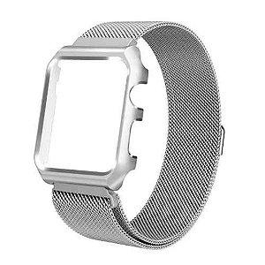 Pulseira Milanese Magnética Bumper Para Apple Watch 42mm - Prata