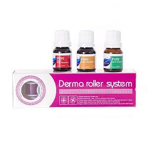 Kit Dermaroller 1,5mm+ Colágeno+Vitamina C+ Acido Hialurônico
