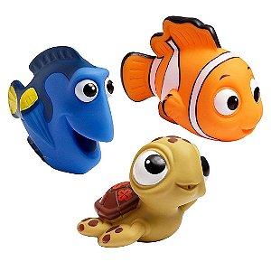 Kit Brinquedo de Esguicho Infantil Para Banho Procurando Nemo Com Nemo Dory e Squirt Tartaruga Para Bebê