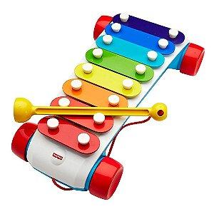 Brinquedo Infantil Fisher Price Instrumento Xilofone Para Bebê