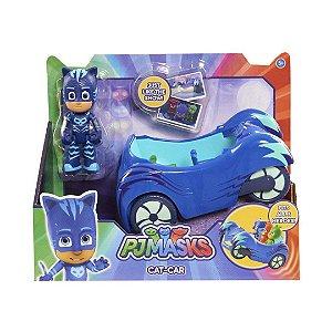 Boneco Infantil PJ Masks Veículo Com Personagem Menino Gato