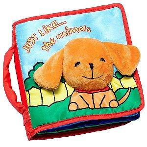 Livro Educativo de Animais Infantil de Pano To Be Ready For Life para Bebê