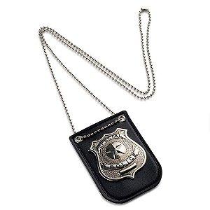 Distintivo de Policia Especial Dress Up America Crachá com Corrente e Clipe de Cinto Fantasia Infantil