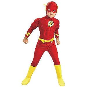 Fantasia Infantil Super Herói Flash Deluxe DC Costume Personagem da Liga da Justiça