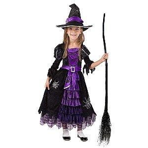 Fantasia Infantil de Bruxa Costume Deluxe Set Feitiçaria Conto de Fadas