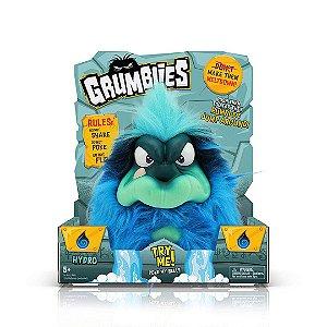 Grumblies Hydro Infantil Monstros Interativos Gritam E Pulam Azul