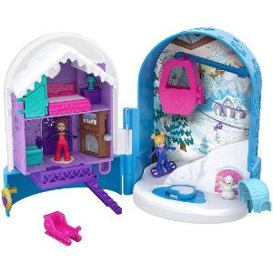 Divertido Globo de Neve Polly Pocket Infantil Com Surpresas