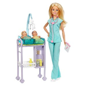 Boneca Barbie Conjunto de Jogos Infantil Médicos Pediatra