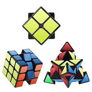 Kit 3 Cubos Mágico Roxenda Jogos Infantil de Raciocínio