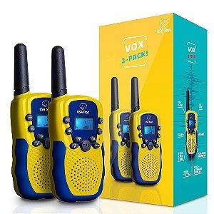 Mini-Rádio Infantil Walkie Talkie Ativado por Voz Toyz Rádio Portátil Para Crianças