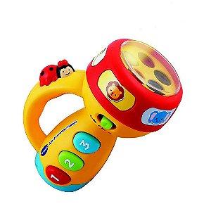Lanterna Infantil VTech Brinquedo Educativo com Musicas para Crianças