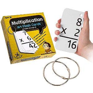 Brinquedo Cartões Pense Rápido da Multiplicação Infantil Star Education Com 2 Argolas