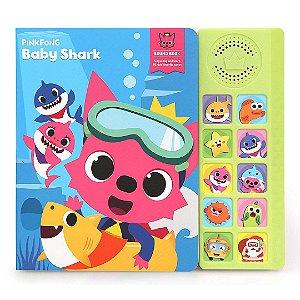 Livro Interativo Musical Infantil Com Tubarão Pinkfong Baby Shark Para Bebê