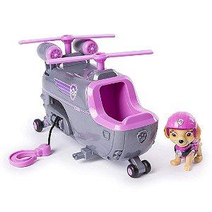 Patrulha Canina Paw Patrol Infantil Veículo com Personagem Skye