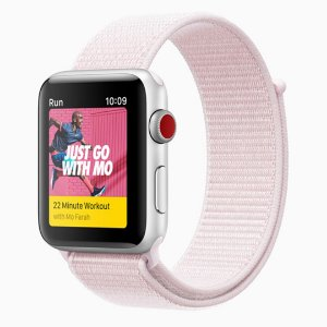 Pulseira Nylon Sport Loop Para Apple Watch 38mm - Rosa Claro