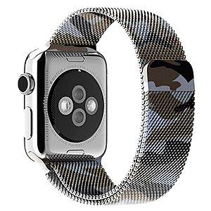 Pulseira Milanese Para Apple Watch 42mm - Camuflada Verde