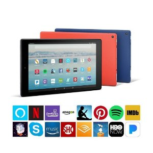 Tablet Fire 10 com Alexa 1080p Full HD Display 32GB Preto e Câmera Frontal VGA e Traseira 2MP