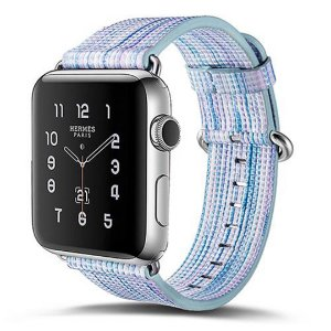 Pulseira Couro Colorido Para Apple Watch 38mm Azul