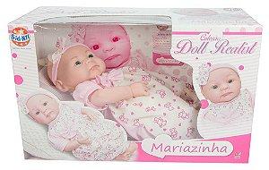 Boneca Bebê Tipo Reborn Mariazinha