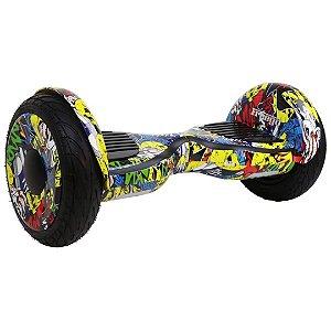 Hoverboard Elétrico Amarelo Colorido Freego W3s Balance Wheel com Roda de 10'