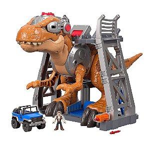 Dinossauro Rex Jurassic World Infantil com Base de Retenção