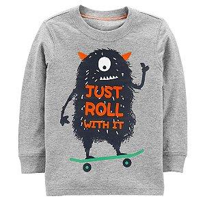 Camiseta Manga Longa Monstro Carter´s