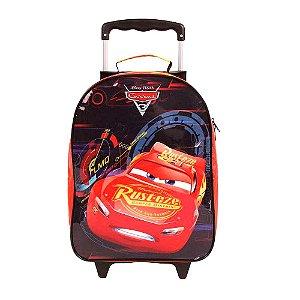 Mochila Infantil C/ Rodas Carros 3 Grande Dermiwil 30099