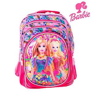Mochila Infantil Escolar 3D Barbie de Costas