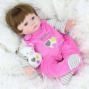 Bebê Reborn Weew 01 Boneca Silicone Menina Realista Barato