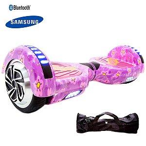 Hoverboard 6,5  Purple Flowers Hoverboardx Bat Samsung+bolsa