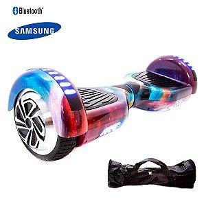 Hoverboard 6,5 Galáxia Rainbow Hoverboardx Bat Samsung+bolsa