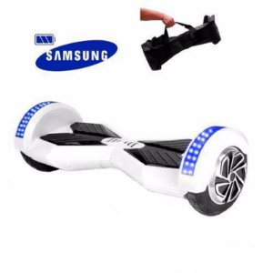 "Hoverboard Elétrico Mibo Branco com Roda de 8.0"" e Bluetooth"