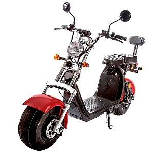Moto Scooter Elétrica CityCoco 1500W Bateria 20Ah Vermelho Fosco  H10