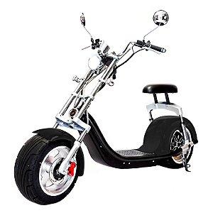 Moto Scooter Elétrica CityCoco 1500W Bateria 20Ah  Preto Brilhante H7