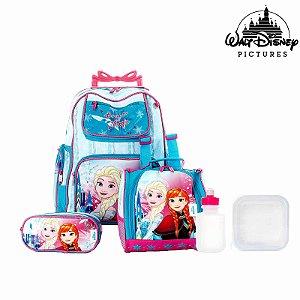 Kit Mochila Infantil Escolar Frozen Com Rodinha