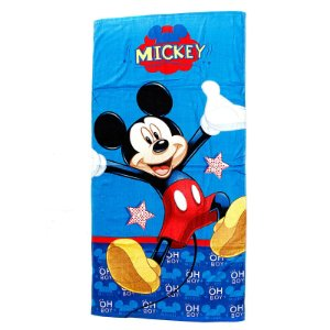 Toalha De Banho Infantil Mickey Mouse Felpuda Personagens