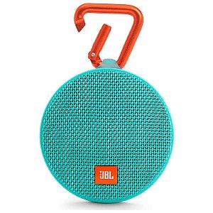 Caixa de Som Bluetooth JBL Speaker Portátil Clip 2 Verde Água