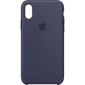 Capa para iPhone X em Silicone Apple Azul Escuro