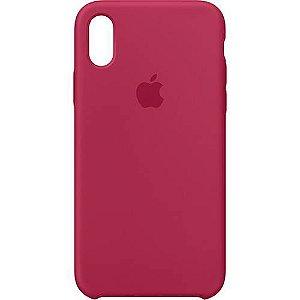 Capa para iPhone X em Silicone Apple Vermelha