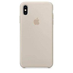 Capa Iphone X Silicone Case Apple Cinza