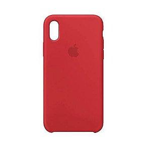 Capa para Iphone XS MAX Silicone Case Apple Vermelho