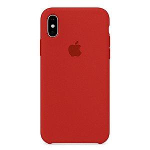 Capa Iphone X Silicone Case Apple Cereja