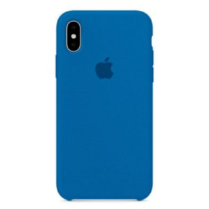 Capa Iphone X Silicone Case Apple Azul