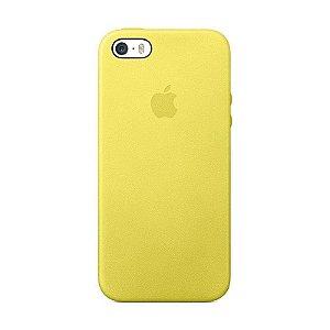 Capa Iphone SE Silicone Case Apple Amarelo