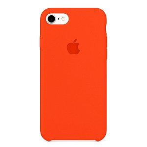 Capa Iphone 7/8 Silicone Case Apple Laranja