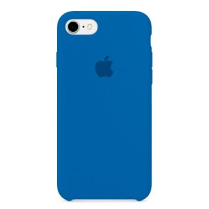Capa Iphone 7/8 Silicone Case Apple Azul